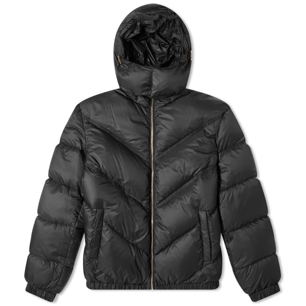 Photo: Versace Logo Piping Down Jacket