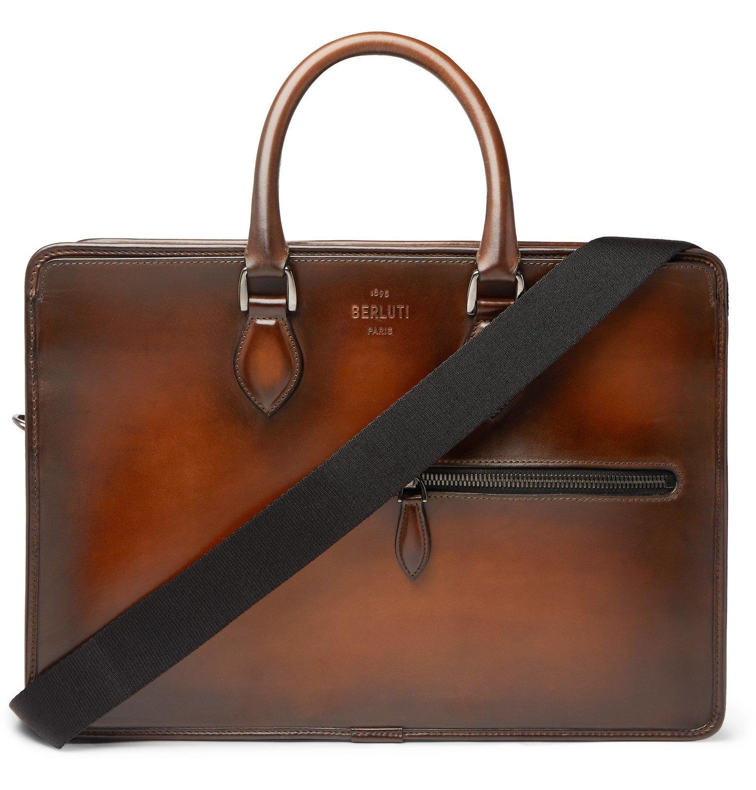Photo: Berluti - Un Jour Leather Briefcase - Brown