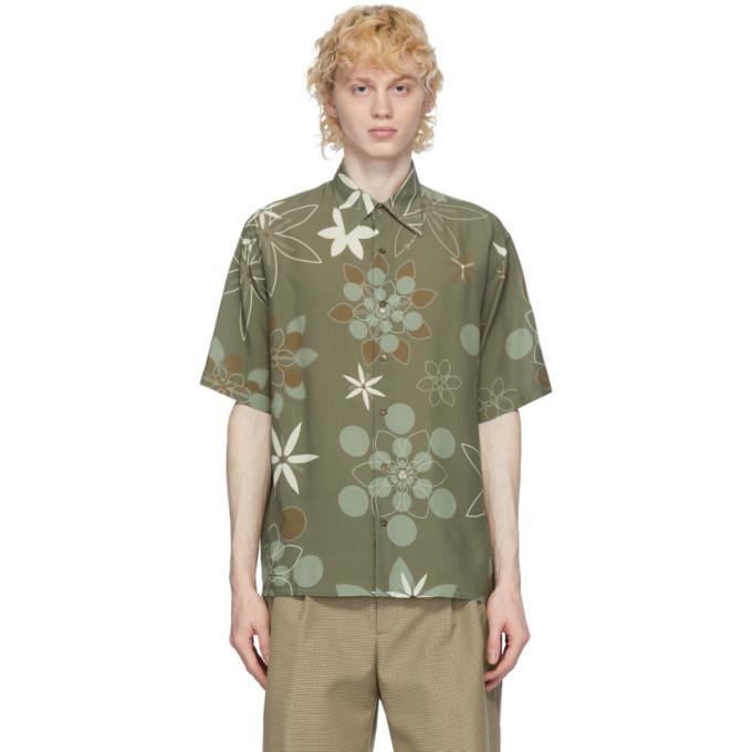 Photo: Fendi Green Kaleidoscope Floral Shirt