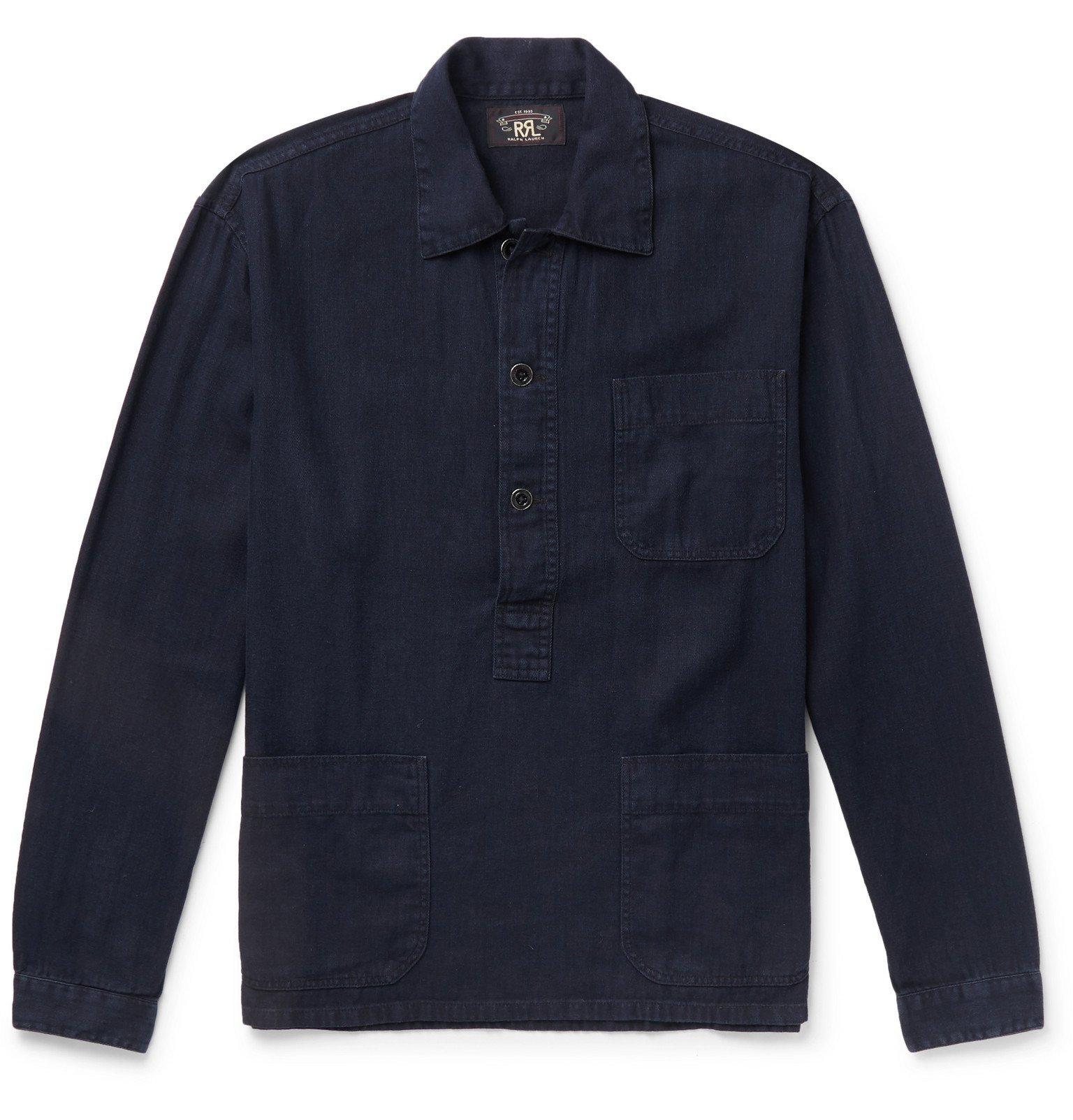 RRL - Linen and Cotton-Blend Shirt - Blue