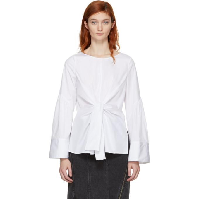 3.1 Phillip Lim White Front Tie Blouse