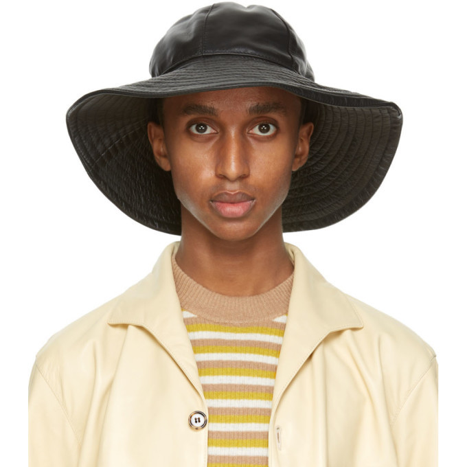 Photo: Marni Black Leather Bucket Hat