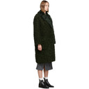 3.1 Phillip Lim Green Two Tone Faux-Shearling Coat