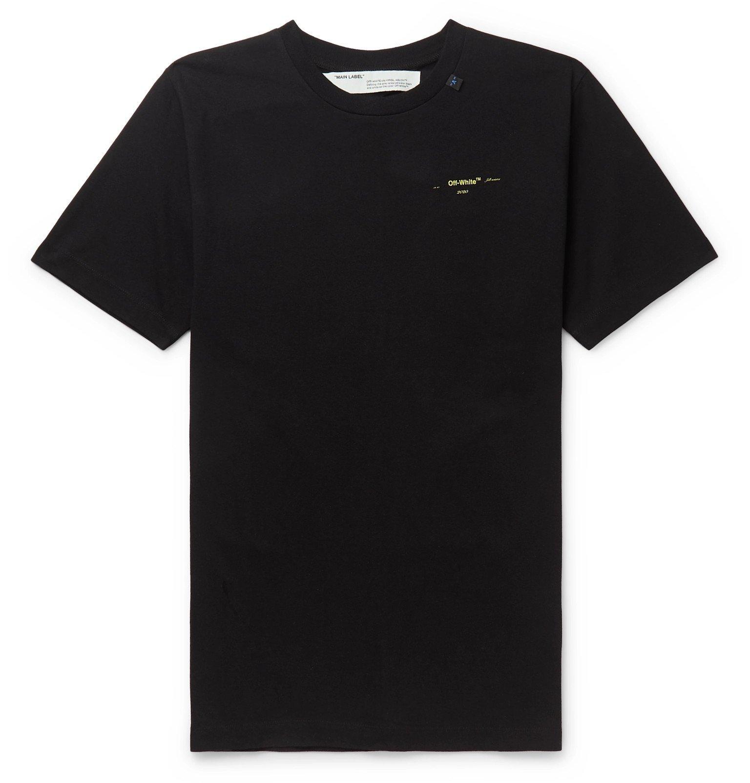Photo: Off-White - Logo-Print Cotton-Jersey T-Shirt - Black