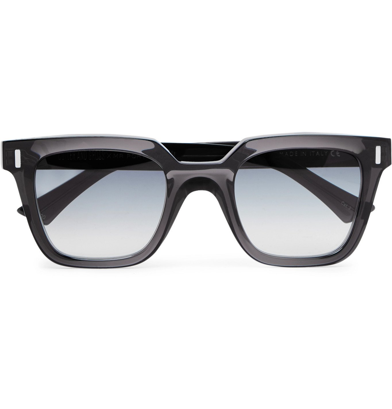 Photo: Cutler and Gross - Square-Frame Acetate Sunglasses - Gray