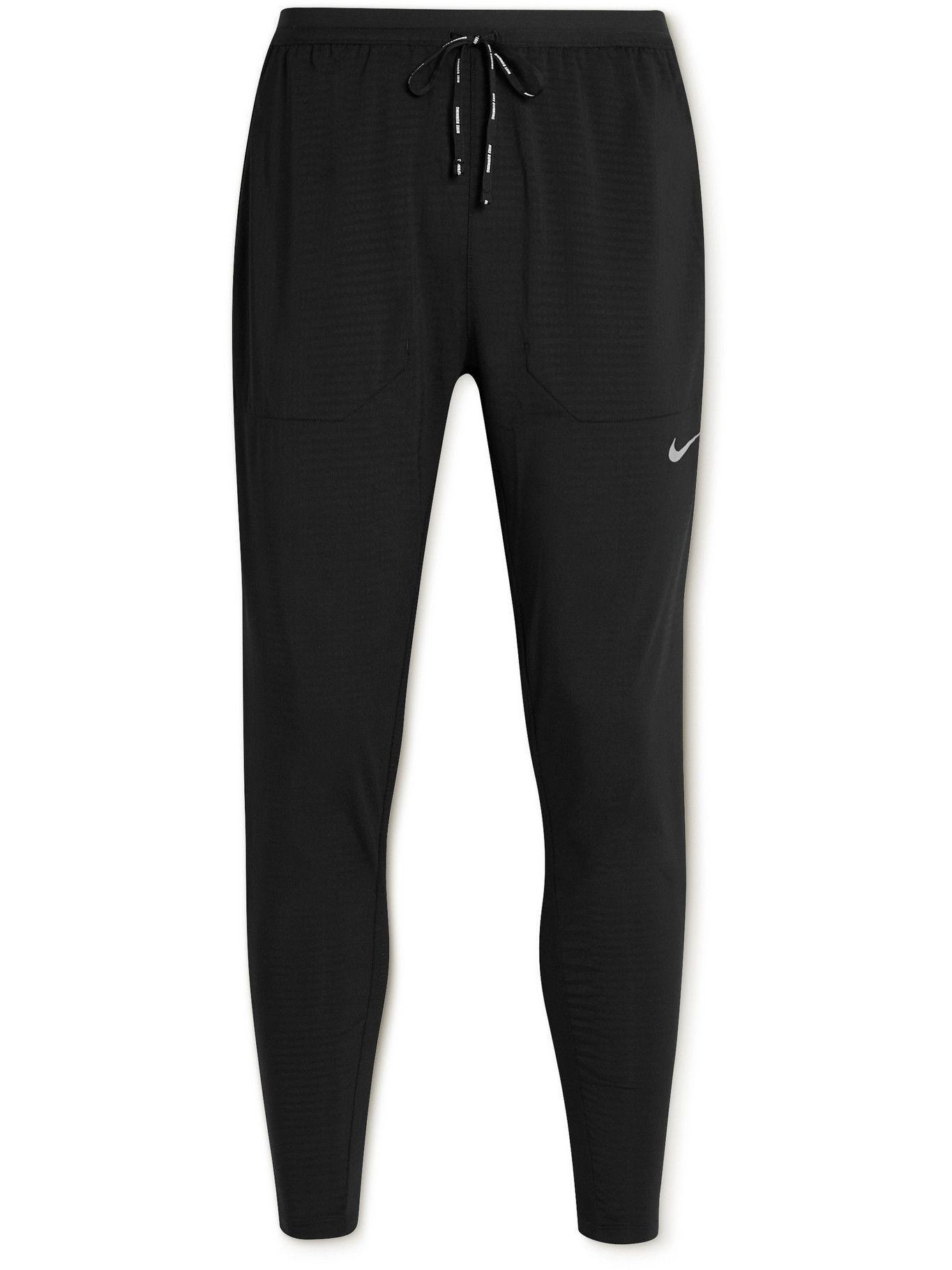 NIKE RUNNING - Phenom Elite Slim-Fit Tapered Recycled Dri-FIT Track Pants - Black