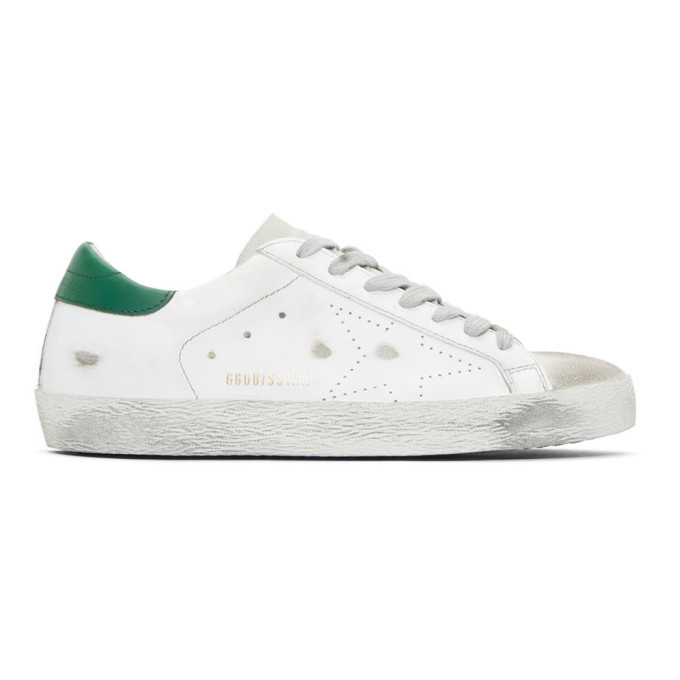 Photo: Golden Goose White and Green Superstar Sneakers
