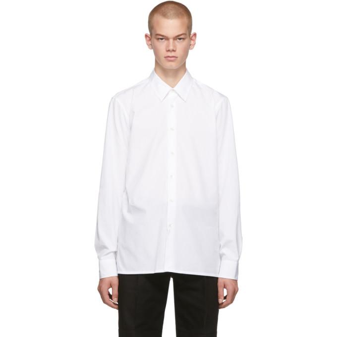 Raf Simons White Logo Slim Fit Shirt
