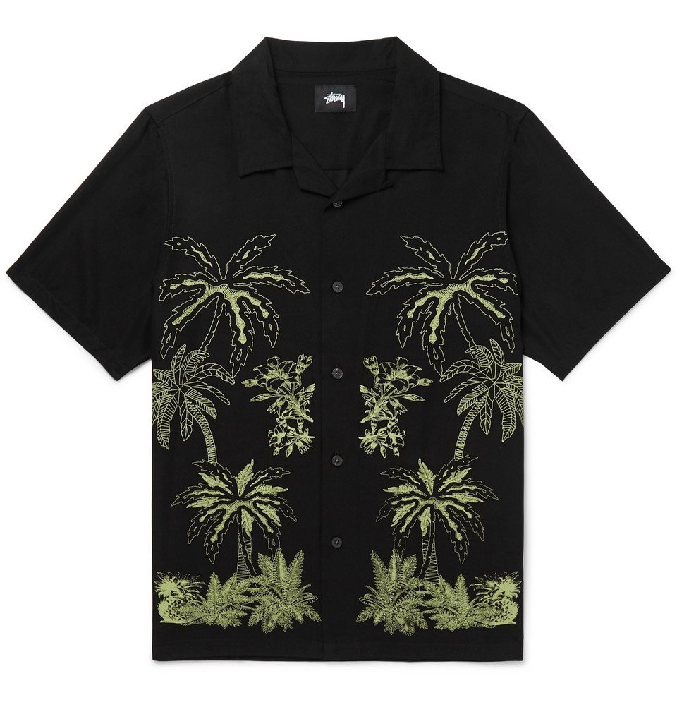 Photo: Stüssy - Camp-Collar Printed Woven Shirt - Black