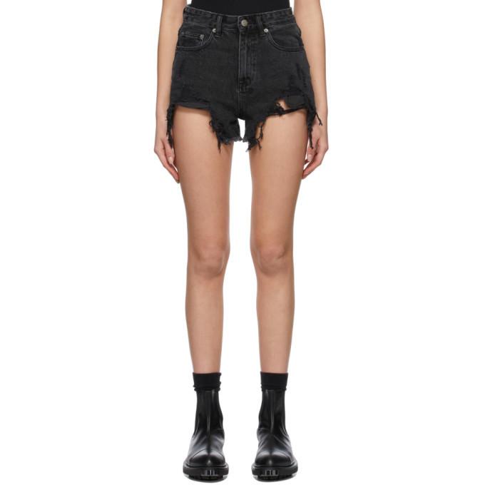 Photo: Ksubi Black Rise N High Shorts