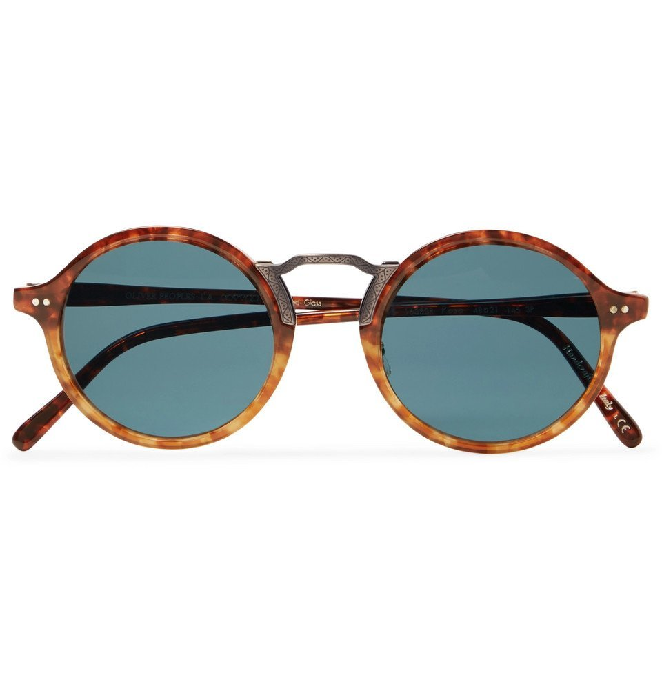 Oliver Peoples - Kosa Round-Frame Tortoiseshell Acetate and Gold-Tone Polarised Sunglasses - Brown