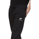 1017 ALYX 9SM Black Nike Edition Plaid Underlay Logo Sweatpants