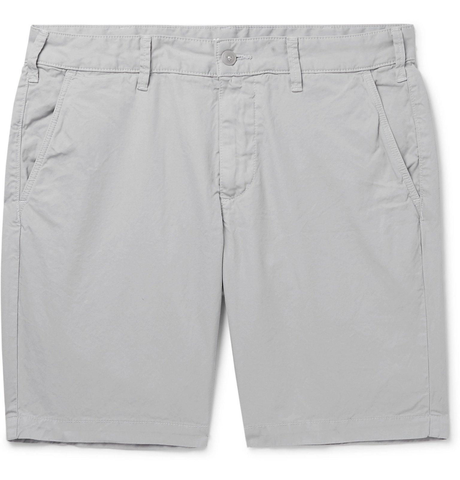 Photo: Save Khaki United - Slim-Fit Cotton-Twill Bermuda Shorts - Gray