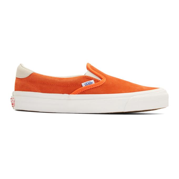 Photo: Vans Orange Suede OG 59 LX Slip-On Sneakers