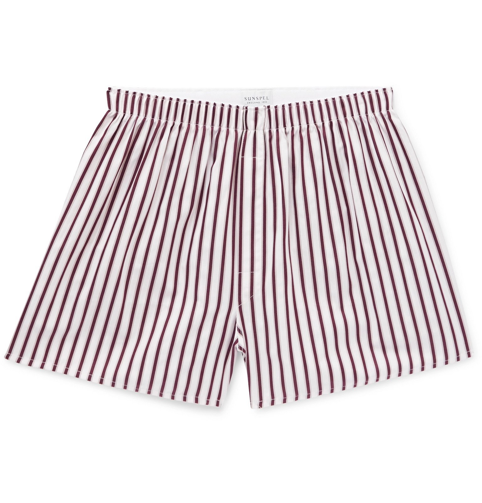 Sunspel - Striped Cotton Boxer Shorts - Red