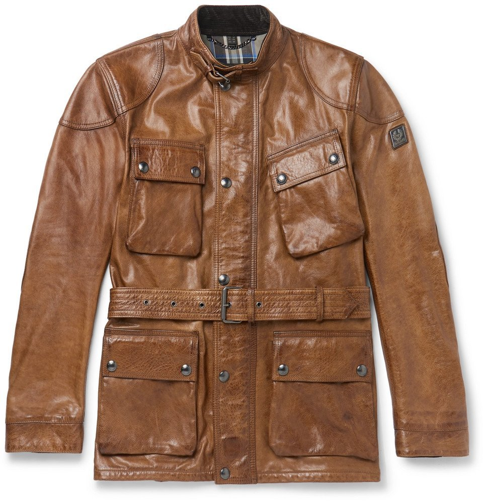 Photo: Belstaff - Trialmaster Leather Jacket - Brown