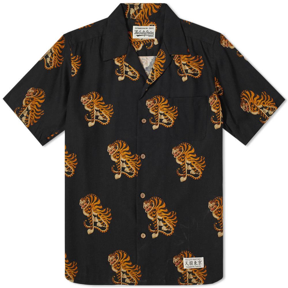 Photo: Wacko Maria Short Sleeve Tiger Hawaiian Shirt