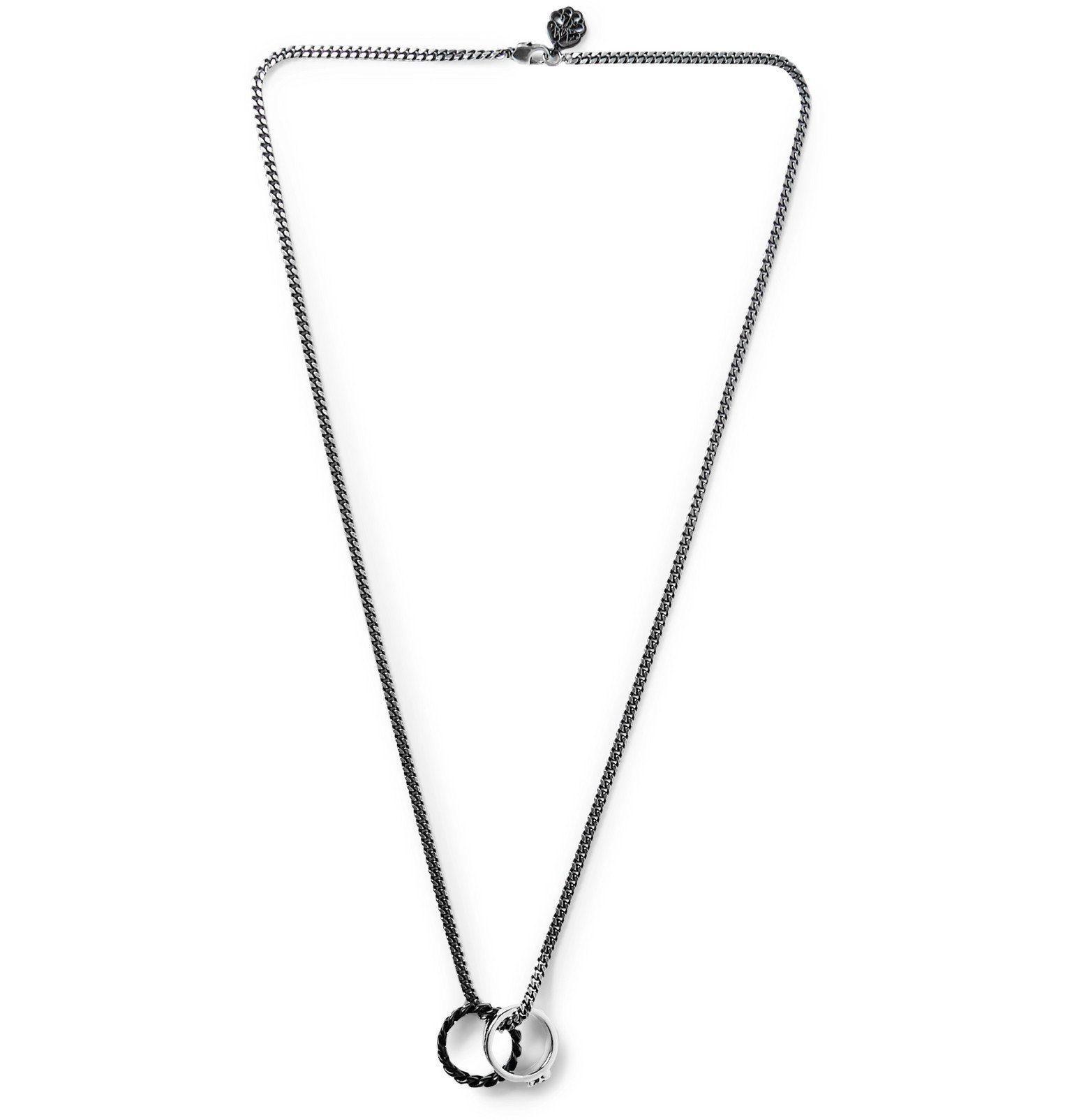 Photo: Alexander McQueen - Burnished Silver-Tone Necklace - Silver