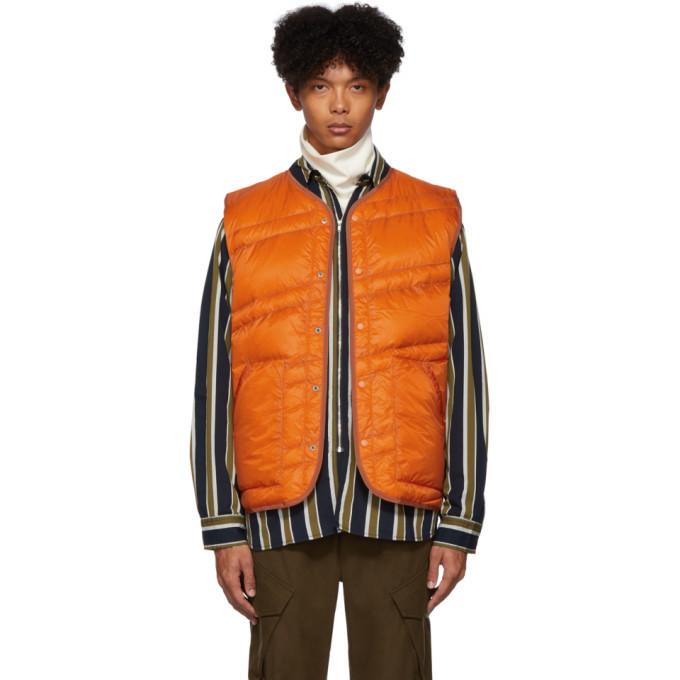 Photo: Nanamica Orange Down Ripstop Vest