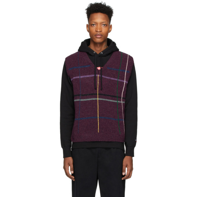 Photo: Noah NYC Purple Wool Sweater Vest