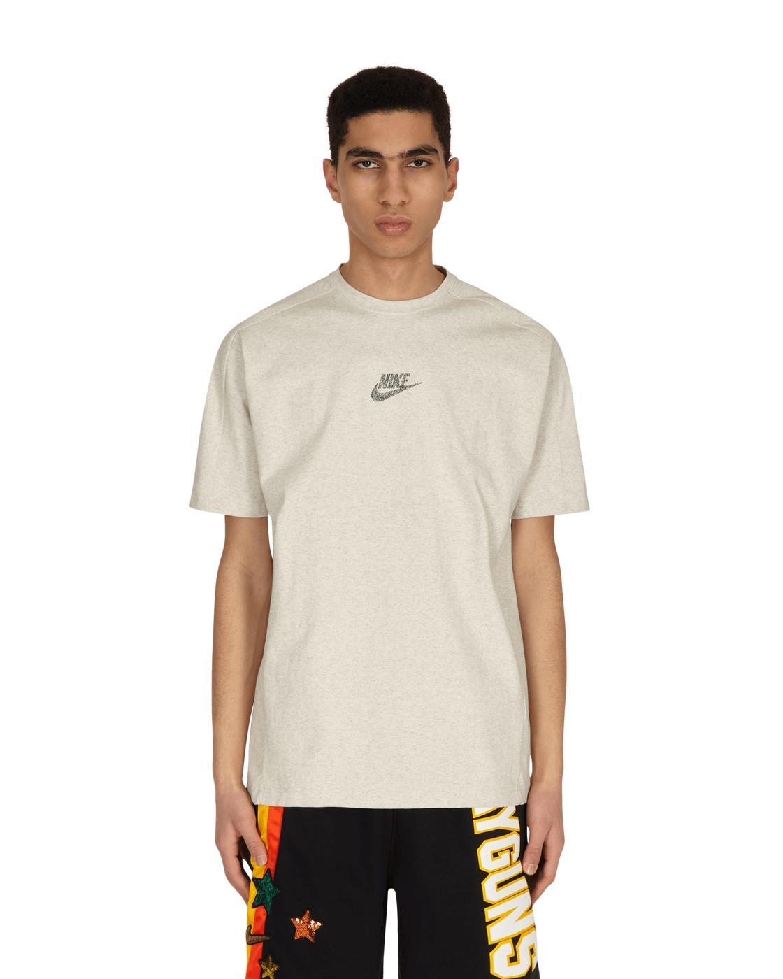 Photo: Nike Logo T Shirt White/Htr