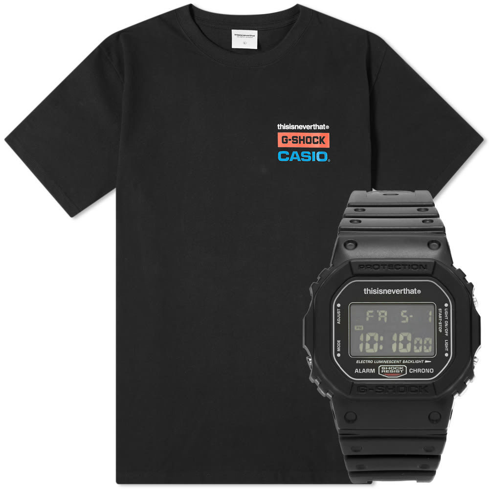 Photo: thisisneverthat x G-SHOCK 5600 Watch and Logo Tee