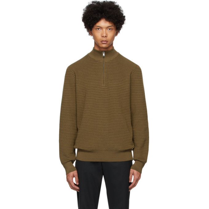 Photo: Boss Brown Pro Half-Zip Sweater