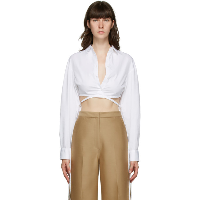 Photo: Christopher Esber White Crop Tie Shirt