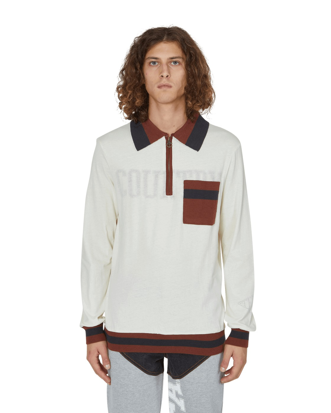 Photo: Telfar Long Sleeves Polo T Shirt Medium Brown