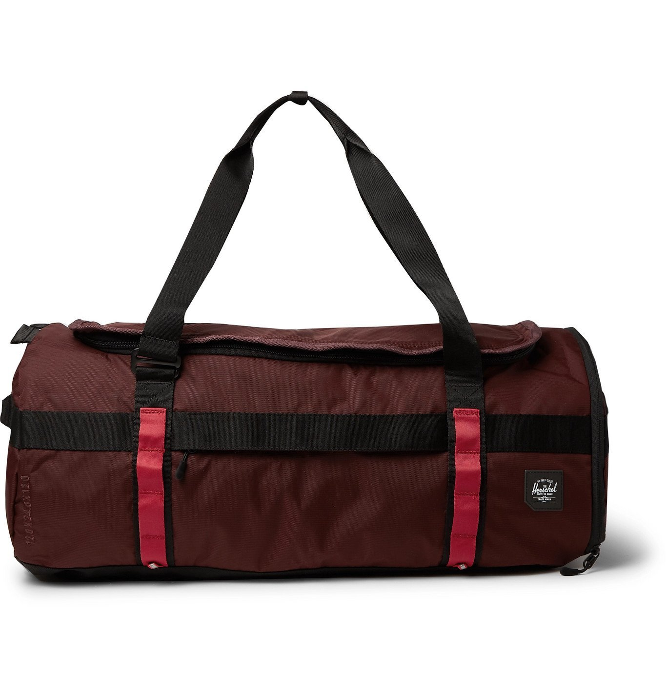 Photo: Herschel Supply Co - Sutton Nailhead Dobby-Nylon Duffle Bag - Burgundy