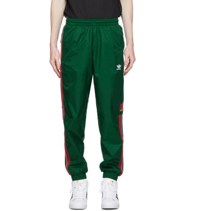 Photo: adidas Originals Green 3D Trefoil 3-Stripes Lounge Pants