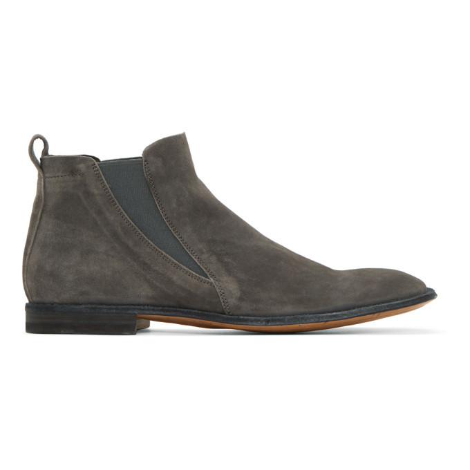 Photo: Officine Creative Grey Mondrian 5 Chelsea Boots