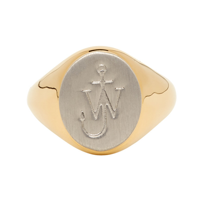 Photo: JW Anderson Gold Brushed Signet Ring