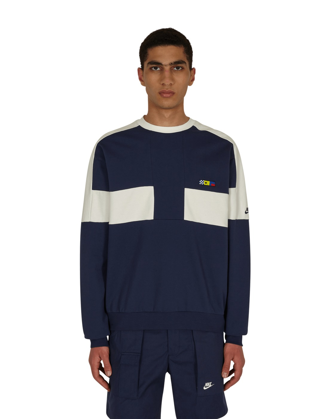 Photo: Nike Reissue Fairlead Crewneck Sweatshirt Midnight Navy/Sail