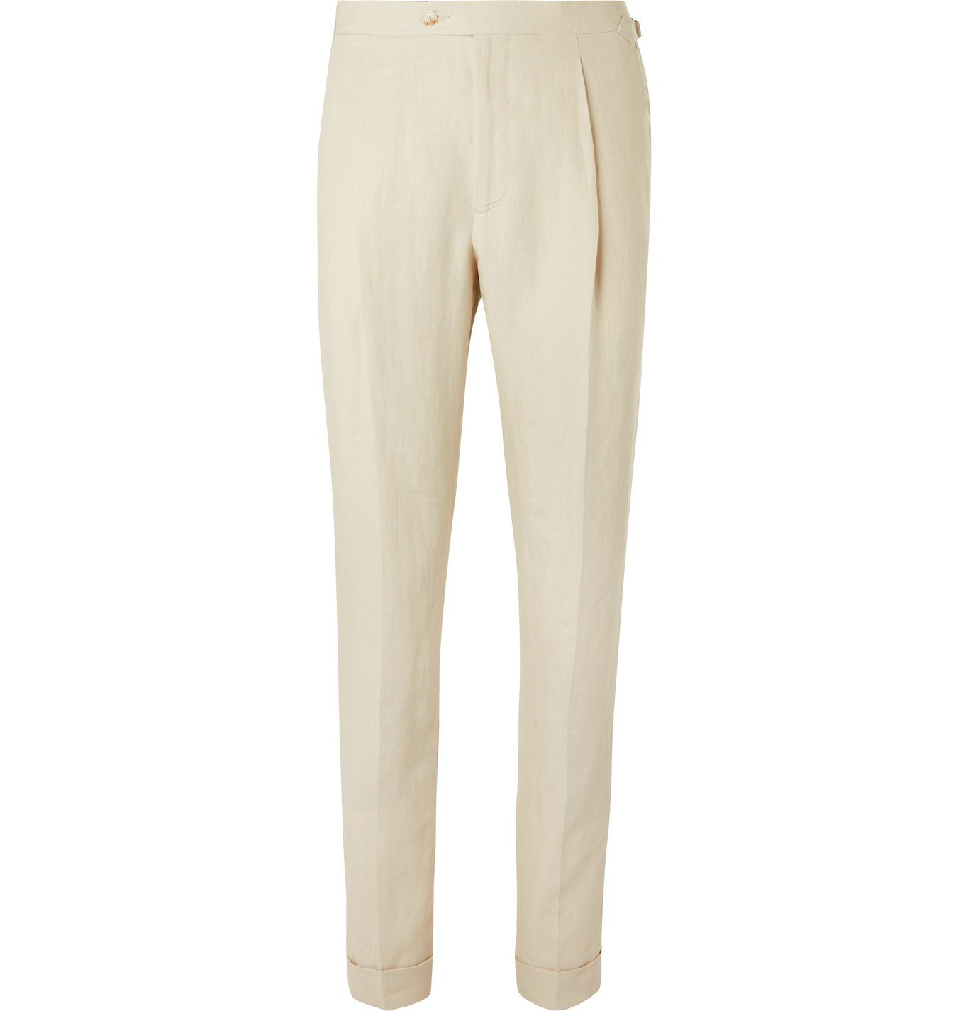 Photo: Saman Amel - Tapered Linen Suit Trousers - Unknown