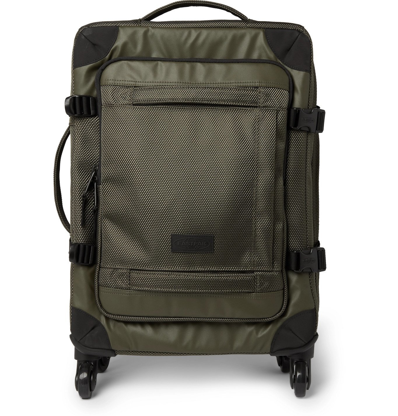 Photo: Eastpak - Trans4 CNNCT Canvas Carry-On Suitcase - Green