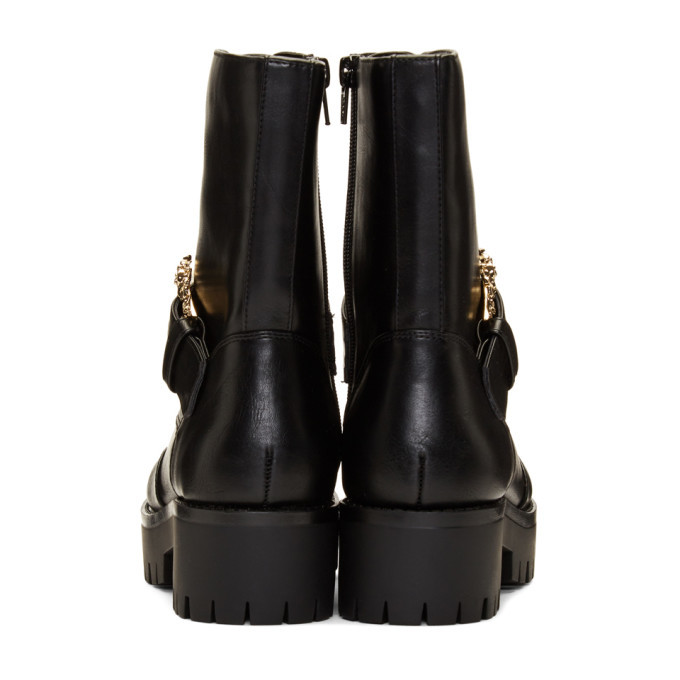 Versace Jeans Couture Black Western Buckle Brenda Boots