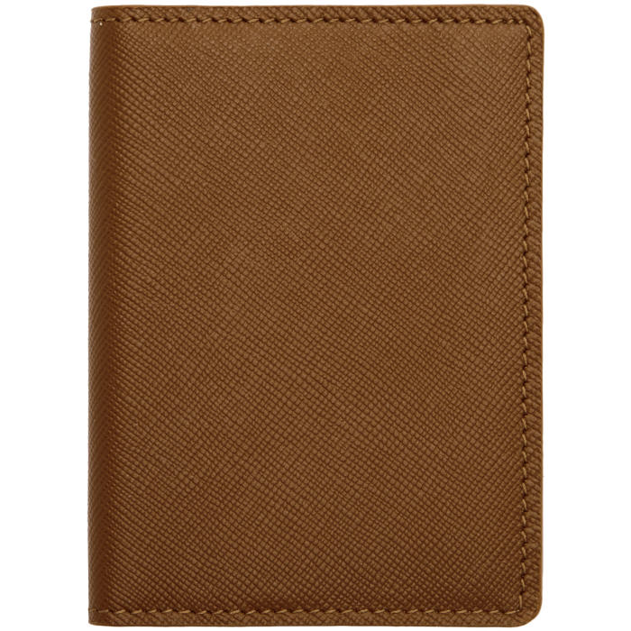 Common Projects Brown Saffiano Card Wallet