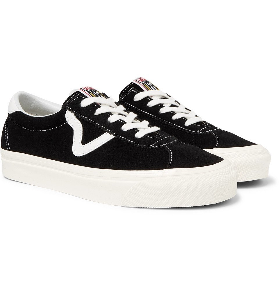 Photo: Vans - Anaheim Factory UA Style 73 DX Leather-Trimmed Suede Sneakers - Black