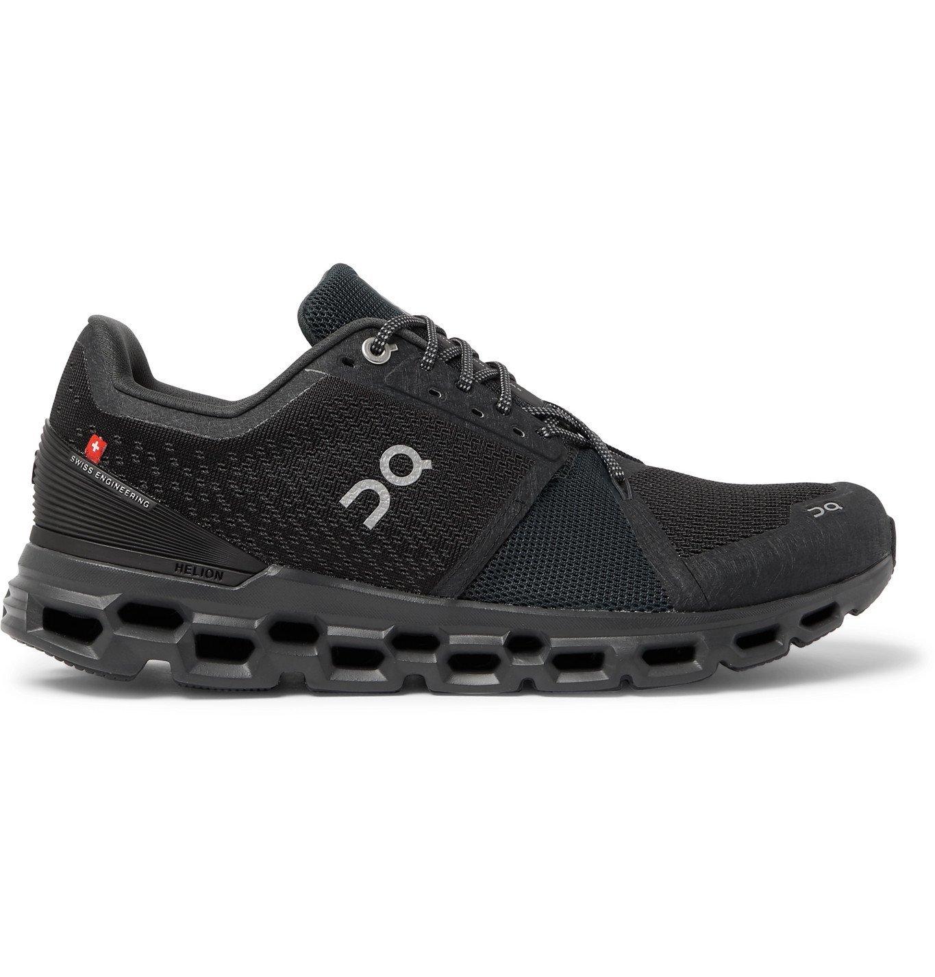 Photo: On - Cloudstratus Mesh Running Sneakers - Black