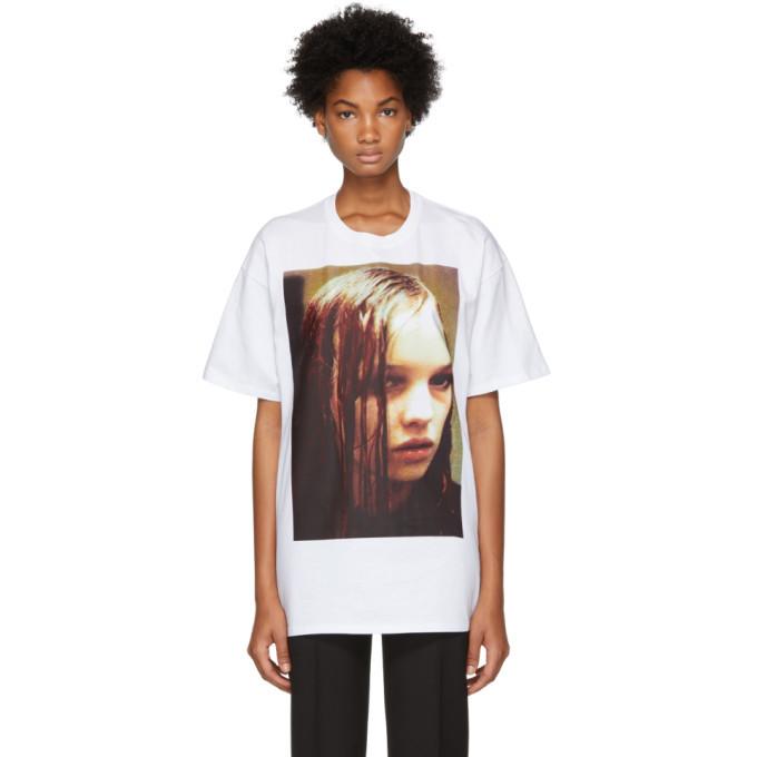 Raf Simons White Christian F. Wet Hair T-Shirt