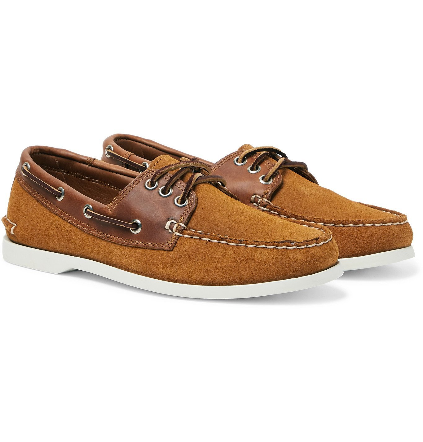 Photo: Quoddy - Downeast Suede and Leather Boat Shoes - Brown