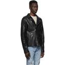 Ksubi Black Leather Capitol Jacket