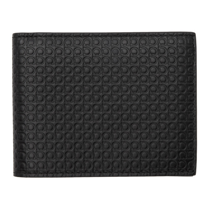 Photo: Salvatore Ferragamo Black Giancini Wallet