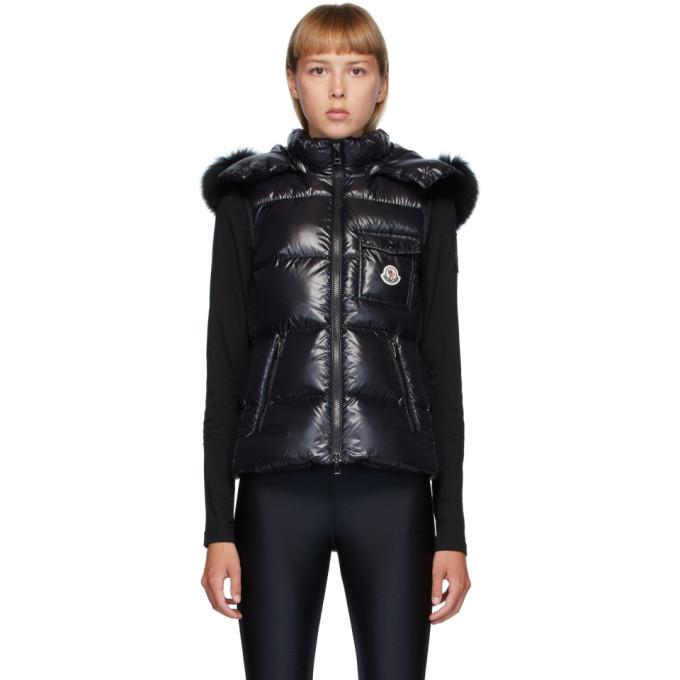 Photo: Moncler Black Down and Fur Balabio Vest