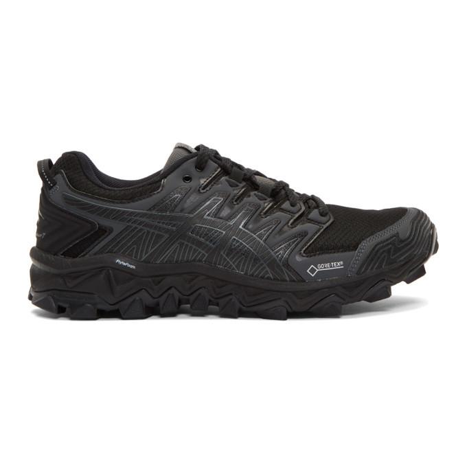 Photo: Asics Black and Grey GEL-FujiTrabuco G-TX Sneakers