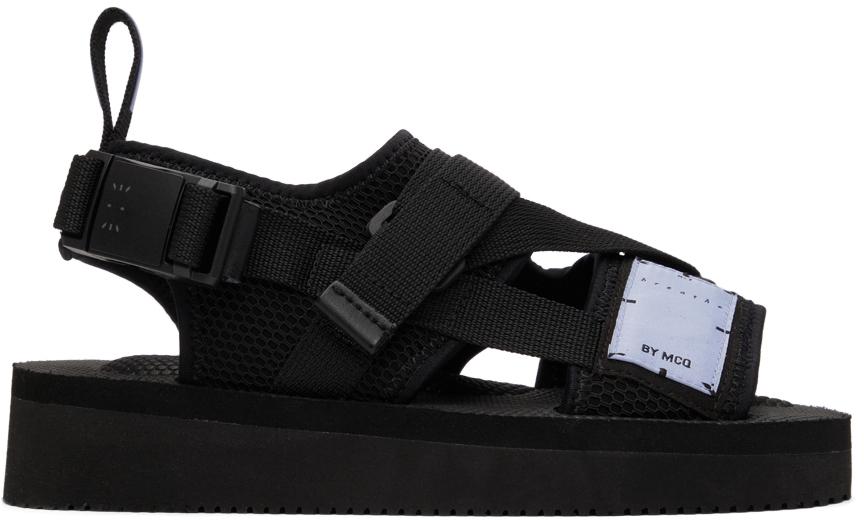 Photo: MCQ Black Criss Cross Sandals