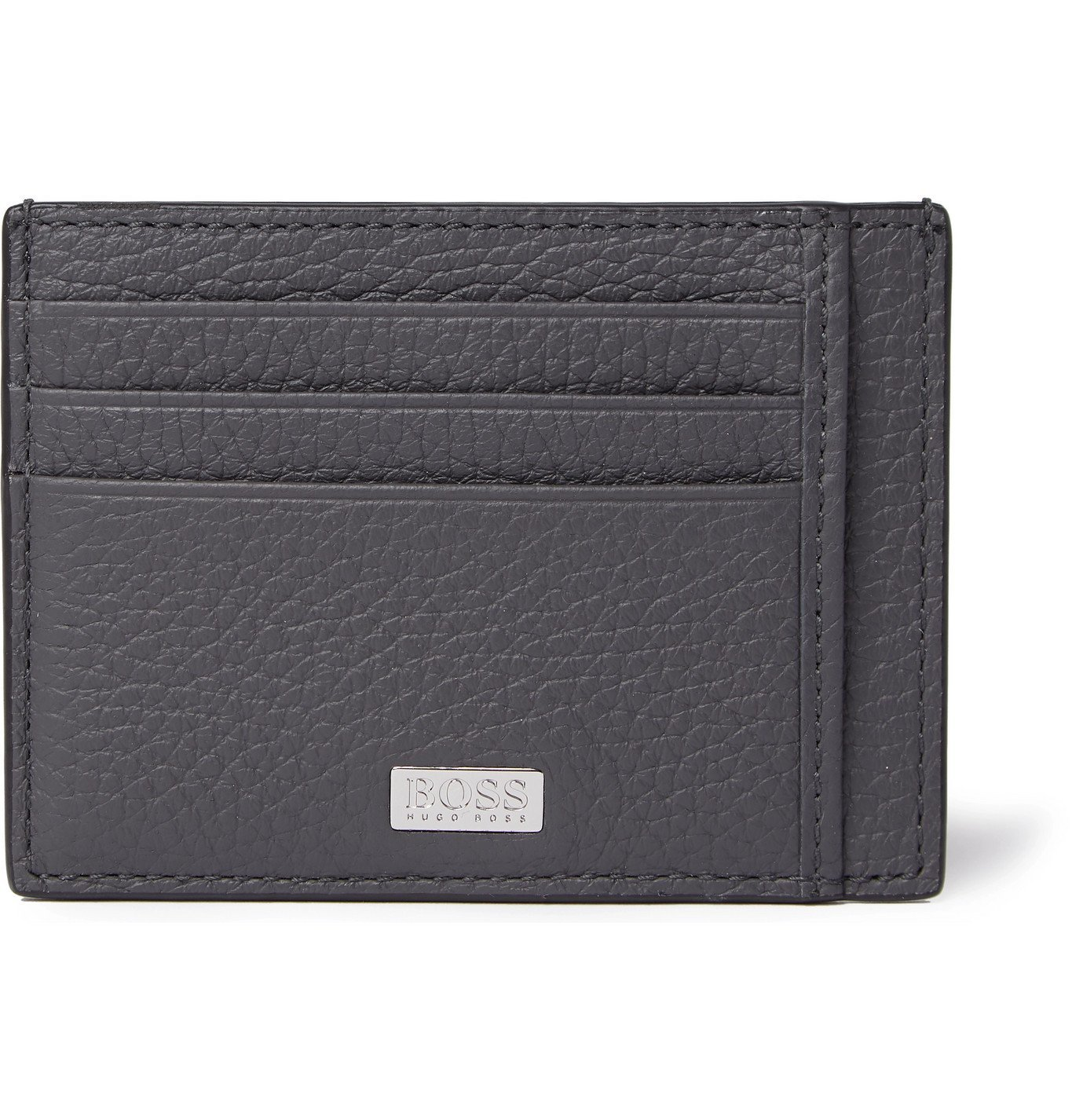 Photo: Hugo Boss - Crosstown Full-Grain Leather Cardholder - Gray
