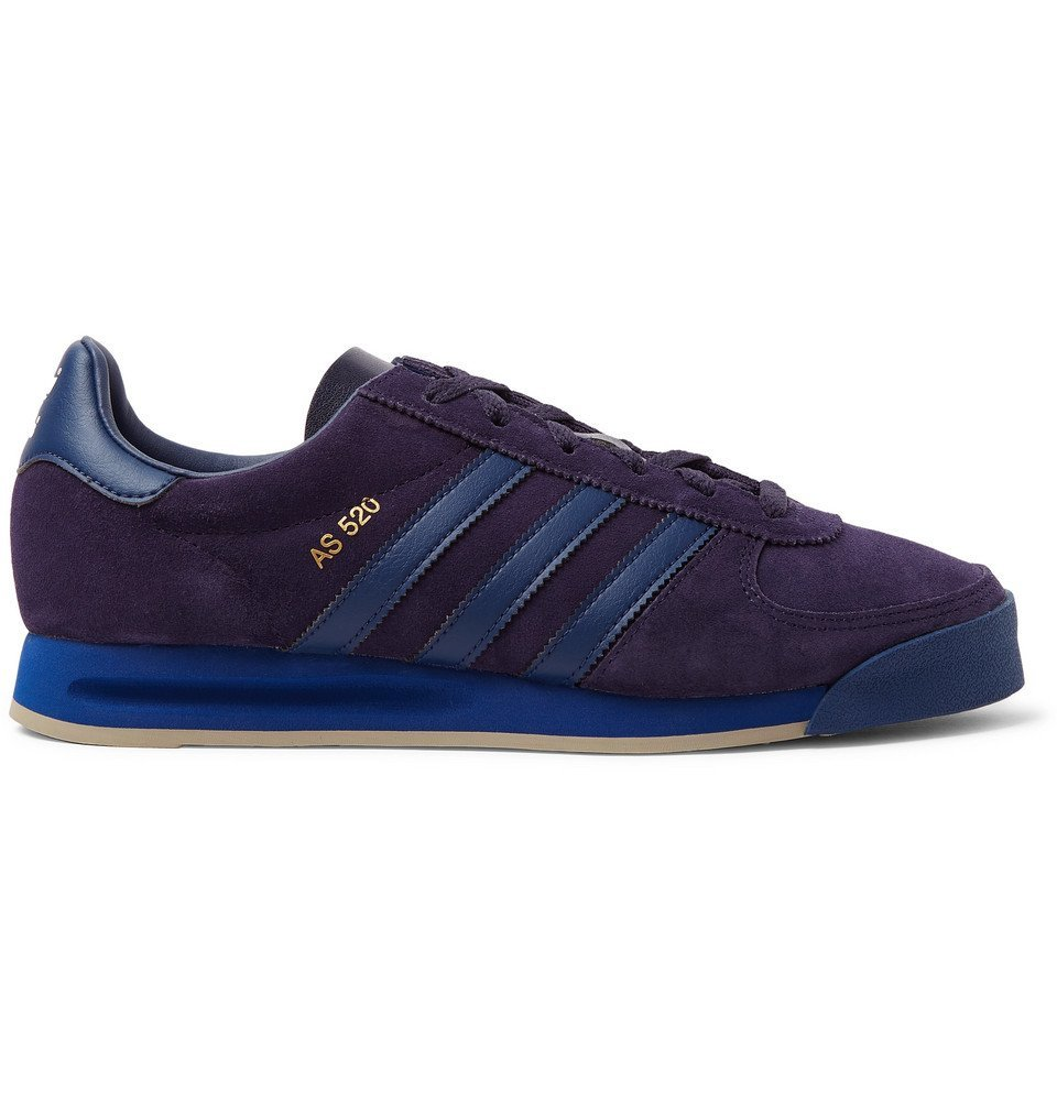 Photo: adidas Consortium - SPEZIAL AS 520 Leather-Trimmed Suede Sneakers - Navy