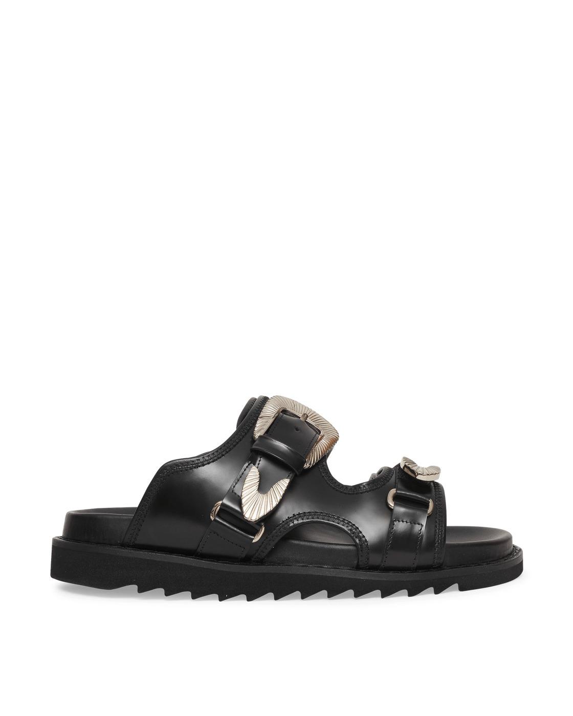 Toga Virilis Polido Sandals Black